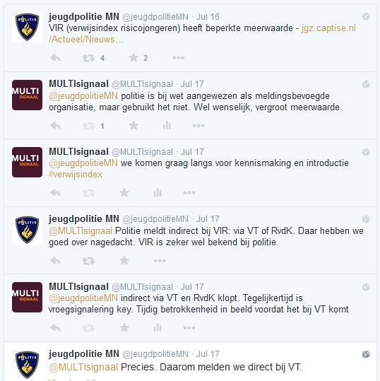 Tweets Jeugdpolitie MN